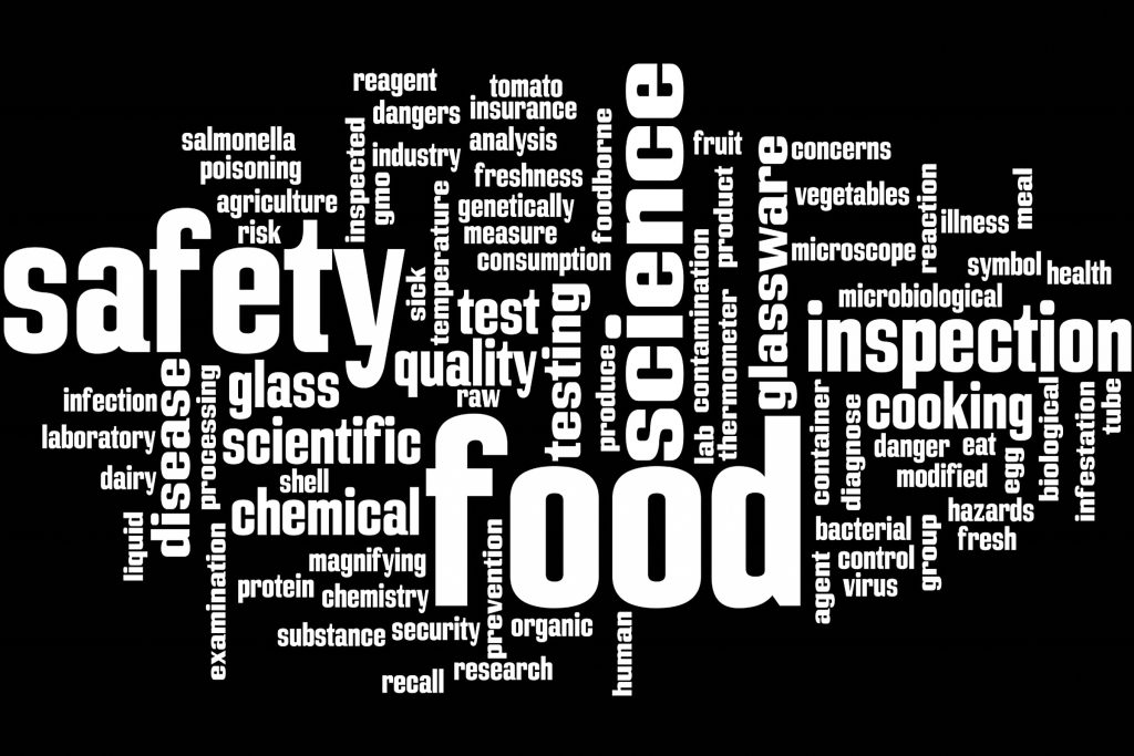 Food safety wordcloud.