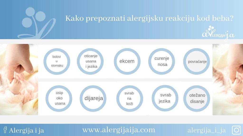 alergijske reakcije kod beba