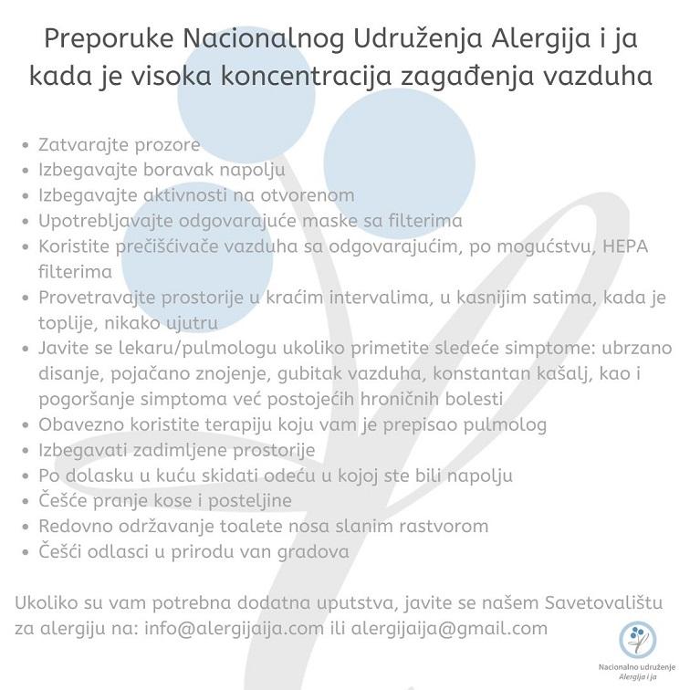 alergije i zagađenost vazduha