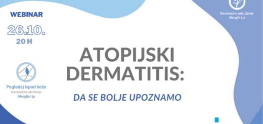 WEBINAR: Atopijski dermatitis - da se bolje upoznamo
